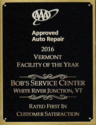 Bob's Service Center | AAA Approved Auto Repair 2016 Vermont Facility of the Year | 802-295-2341